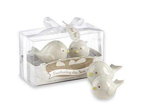 Feathering The Nest Ceramic Birds Salt and Pepper Shakers For Wedding Favors, Set of 72 by cute rabbit