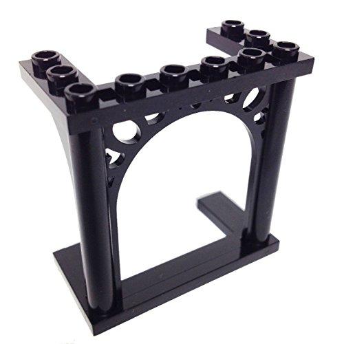 Lego Parts: Brick, Arch 3 x 6 x 5 Ornamented (Black)