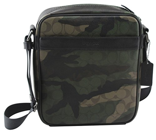 Coach Men's Charles Flight In Animated Signature Print Crossbody Pack, Style F59913, Drak Green Camo (For Coach Flight Bag Men)