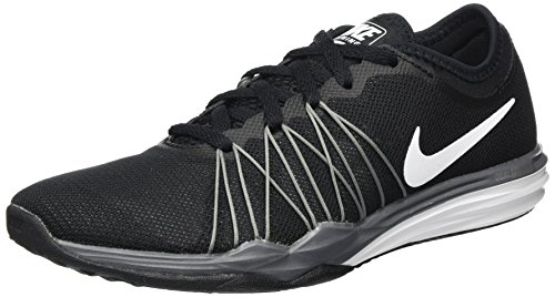 Nike Womens Dual Fusion Tr Hit Running Trainers 844674 Sneakers Shoes (UK 3.5 US 6 EU 36.5, Black White Metallic Cool Grey 001)