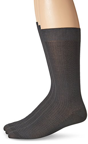 s Basket Weave Crew Socks, Charcoal, One Size/10-13/Shoe Size 6-12 (3 Pack) (Basket Weave Charcoal)