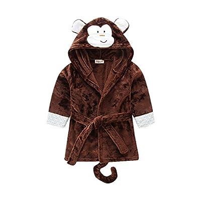 Unisex Baby Cartoon Animal Fleece Bathrobe Pajamas Sleepwear Thicken Tracksuit