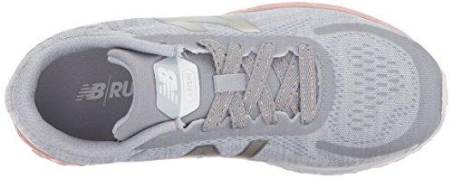 New Balance 520, Zapatillas de Running Unisex Niños Grey/Rosegold