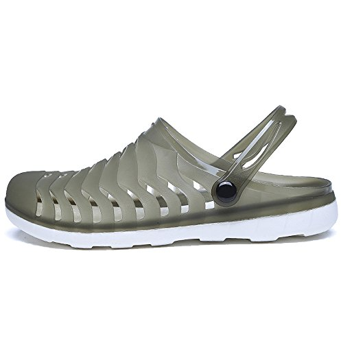 YIRUIYA Green Clogs Outdoor Black Beach Summer Breathable Unisex Walking Sandals Slippers Garden BPwxqBEr