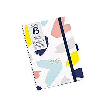 Busy B - Agenda 2019 con listas arrancables, diseño Fashion, multicolor