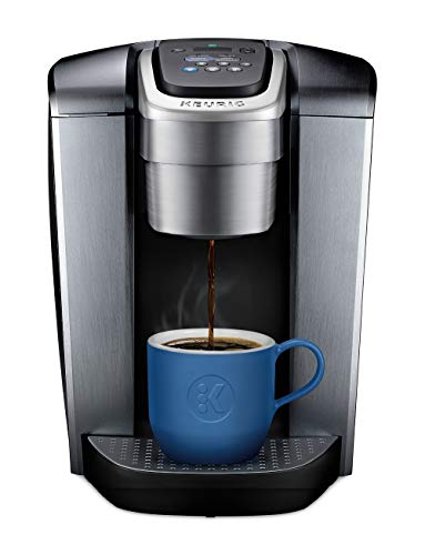 Keurig K-Elite Single Serve K-Cup Pod Maker with with Strength and Temperature Control, Iced Coffee Capability, 12oz Brew Size, Brushed Silver (Best Coffee For Keurig My K Cup)