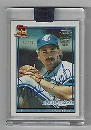 c60f191b2cf Amazon.com  Dave Stieb Autographed   Serial Numbered  23 70-2018 Topps  Archives Signature Series Retired Edition Collectible Card (Toronto Blue  Jays)  ...
