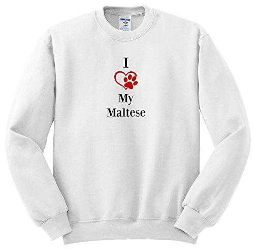 Pet Sayings - I Love My Maltese - Sweatshirts - Youth Sweatshirt Small(6-8) (SS_265252_10) (Maltese Youth Sweatshirt)
