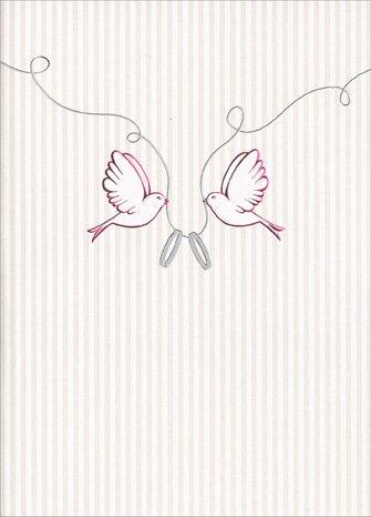 Love Birds with Wedding Rings Press Wedding (Love Birds Wedding Ring)