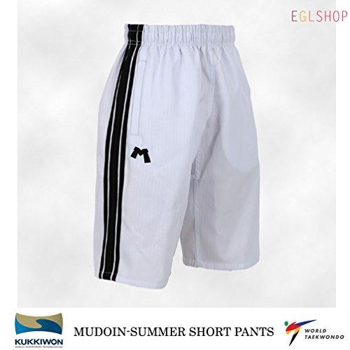 Mudoin White Cool Summer Taekwondo Short Pants Uniform WTF TKD Martial Arts MMA – DiZiSports Store