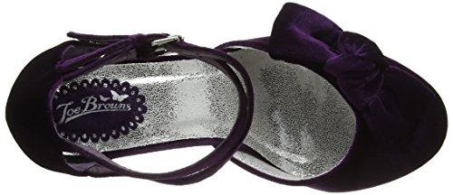 Joe Browns Women's Very Velvet Double Shoes Ankle Strap Heels Purple (Purple) y4ODuPd