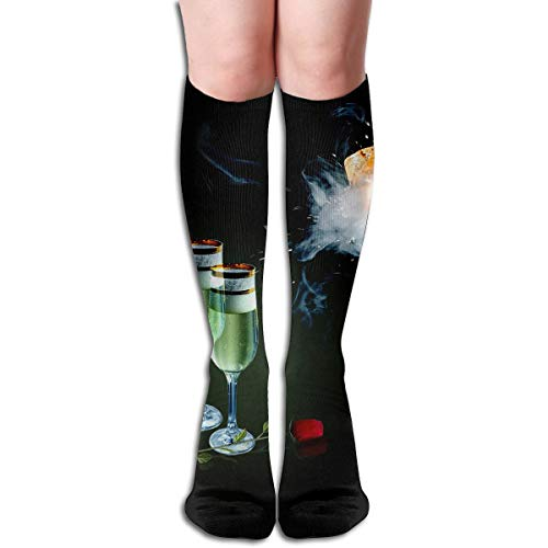Bandnae 19.68 Inch Compression Socks Beer High Boots Stockings Long Hose for Yoga Walking for Women Man