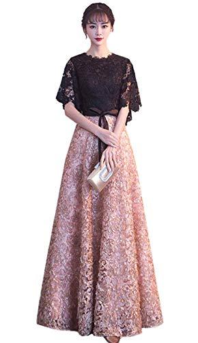 意識ふりをする望み「小丸子の花轮クン」レディース ワンピース ドレス 刺繍レース フィッシュテール 結婚式 パーティー