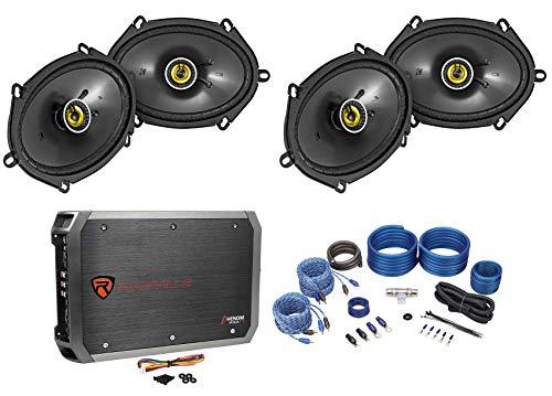 - 4 Kicker 46CSC684 CS68 6x8 450w Car Audio Speakers+4-Channel Amplifier+Amp Kit