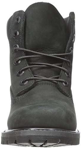 Timberland Womens 6-Inch Premium Black Leather Boots 38.5 EU