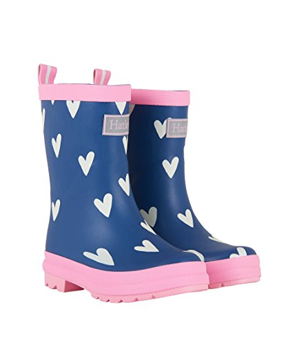 Hatley Girls' Boots Rain Accessory, Matte hearts On Navy, 6 (Hatley Heart)