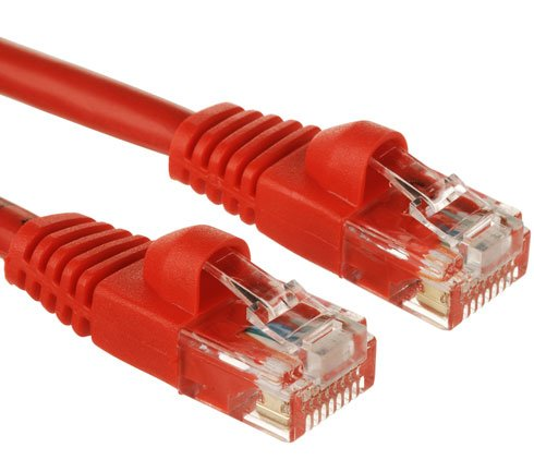 Red Gold Plated 50FT CAT5 CAT5e RJ45 PATCH ETHERNET NETWO...