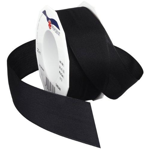 Morex Ribbon Dream Wired Taffeta Ribbon Spool, 1-1/2-Inch by 22-Yard, Carbon Black