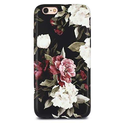 iPhone 6 Case for Girls/iPhone 6S Floral Case, GOLINK Floral Series Slim-Fit Ultra-Thin Anti-Scratch Shock Proof Dust Proof Anti-Finger Print TPU Case for iPhone 6/iPhone 6S 4.7