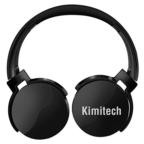 Bluetooth Headphones Over Ear Hi-Fi Stereo Wireless Headset Foldable Soft Memory-Protein Earmuffs Built-in Mic for PC/ Cell Phones/ TV (Black)
