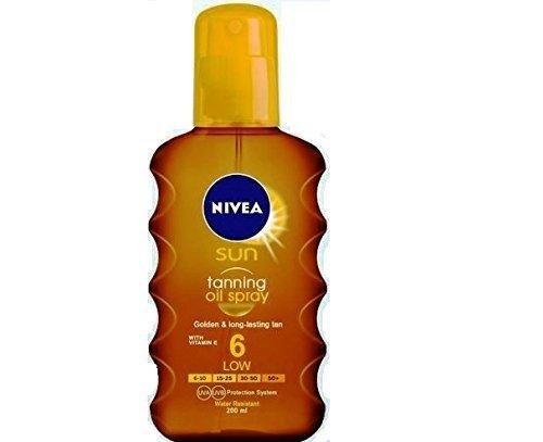 Nivea Sun Deep Tanning Oil Spray SPF 6, Golden & Lond-Lasting Tan 200ml