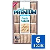 Premium Original Fresh Stacks Saltine Crackers, 6 - 13.6 oz Boxes