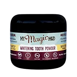 My Magic Mud Activated Charcoal Tooth Powder for Whitening - 150 uses, 1.06 oz jar (30 grams)