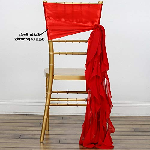 (Mikash Chair Sashes Curly Chiffon Wedding Party Reception Home Decorations Wholesale | Model WDDNGDCRTN - 6665 | 10)