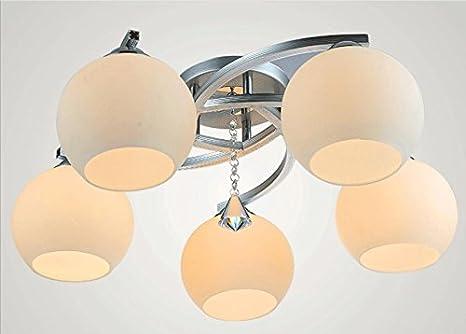 Soggiorno lampada led illuminazione creativa rotondo in cristallo