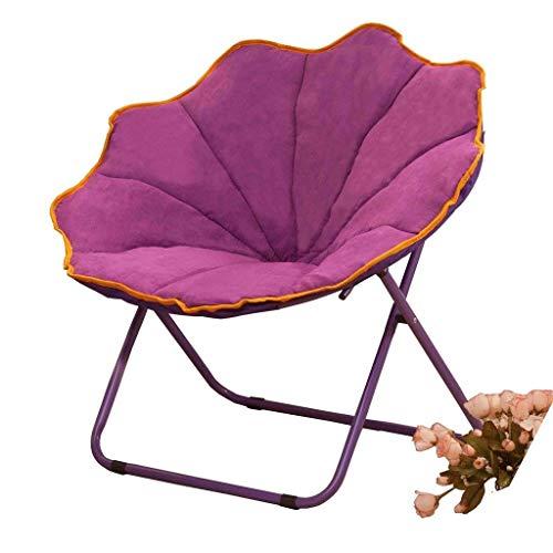 (Yalztc-zyq16 Lazy Couch, Stylish Minimalist, Single Chair Home Bedroom Balcony Snail Chair Folding backrest Lounge Chair Armchair Siesta Sofa bar Stool (Color : Purple))