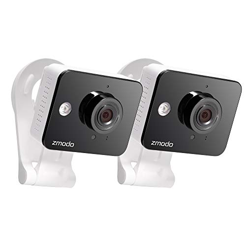 Zmodo 1080p Wireless Two-Way Audio Smart Home Security Surveillance IP Camera (2 Pack) with Night ()