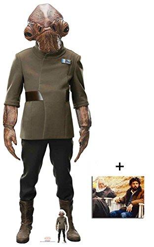 Fan Pack - Admiral Ackbar The Last Jedi Lifesize and Mini Cardboard Cutout/Standup - Includes 8x10 Star Photo