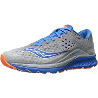 Saucony Kinvara 8 Mens Running Shoe (Grey/Blue/Orange)