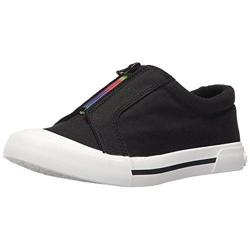 (Rocket Dog Women's Joanel 8a Canvas Cotton/Rainbow Zip Fashion Sneaker Black 7 M US)