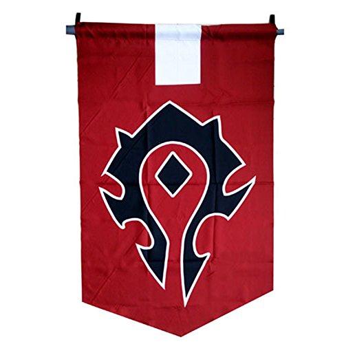 Horde Alliance Badge Banner Flag Orc Emblem Poster (Red)