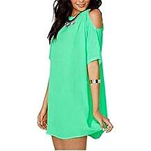 Molif New Summer Mini Dress Sweet Ladies Dressing Off Shoulder Short Sleeve O-Neck Chiffon Dresses