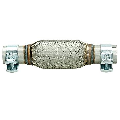 60x200 Flexrohr Flexstück mit Rohrstücken Montage ohne Schweißen Auspuff Rohr