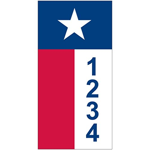 [해외]개인화 된 주소 - 텍사스 깃발 집 주소 - 3.5 x 7/Personalized  - Texas Flag House Numbers by State of Address  -   3.5  x 7
