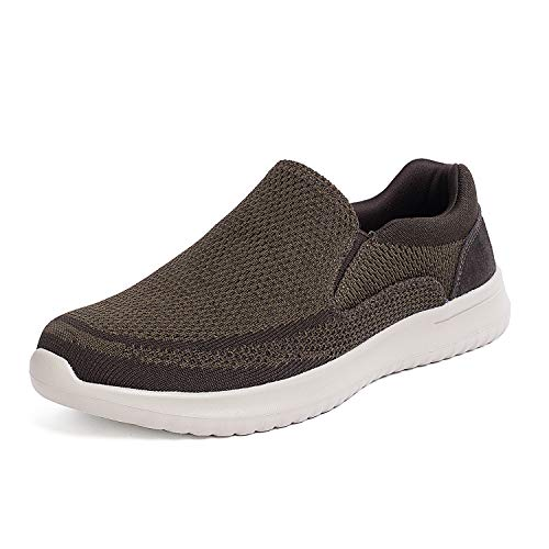 Walking Men Shoe (Bruno Marc Men's Slip On Walking Shoes Mesh Sneakers Walk-Easy-01 Coffee Size 13 M US)