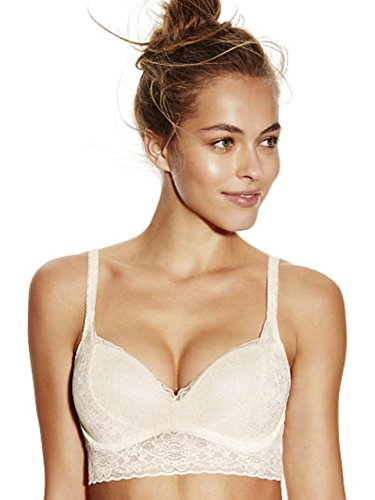 Victoria's Secret PINK Medallion Lace Push Up Bralette Small (D-DD) Cream