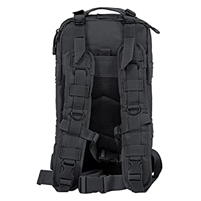 Seibertron Falcon Water Repellent Hiking Camping Backpack Compact Pack Summit Bag (Black 27L) : Clothing
