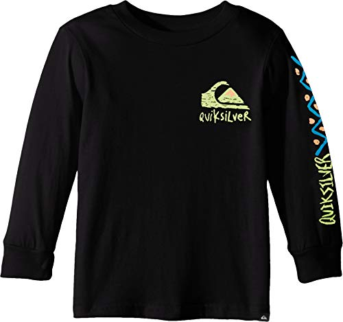 (Quiksilver Boys' Little Yoshino Blossom Long Sleeve TEE, Black 7X)