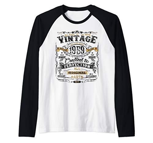 Classic 60th birthday gift tshirt for men women Vintage 1959 Raglan Baseball Tee