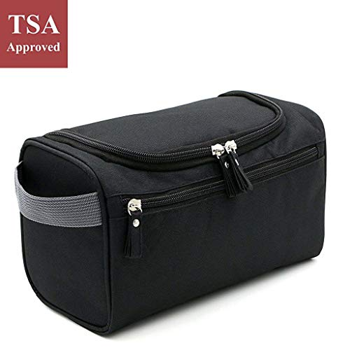 Hanging Toiletry Travel Bag Organizer for Men and Women, Lightweight, Holds Tons, Folds Flat with...