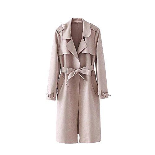 Photo Couleur 1 grand QIN&X Coupe-Vent Femme Veste Slim Long Manteau hauts VêteHommests