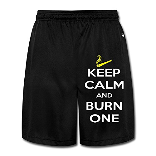 Keep Calm And Burn One Smoking Cigarette Roomier Men Short Sweatpants (Vaporizer For Smoking For Men compare prices)