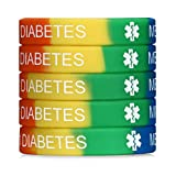 JF.JEWELRY Type 1 Diabetes Medical Alert Silicone