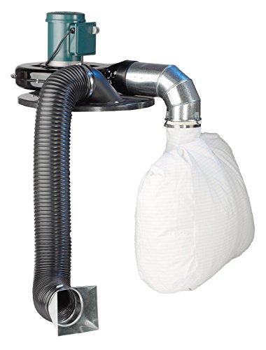 Cincinnati Fan 200S/T1 Portable Dust Collector, 2 hp, 3450 RPM, 1 Phase, 115/208-230V, TEFC Enclosure, Black/Gray/White