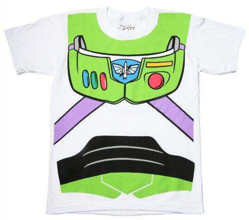 Toy Story Buzz Lightyear Astronaut Costume White Adult T-shirt Tee 3X