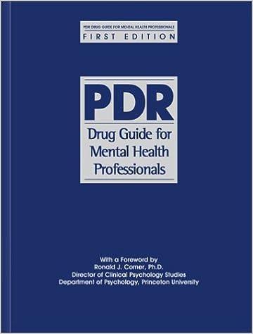 Pdr drug guide for mental health professionals: 9781563634574.